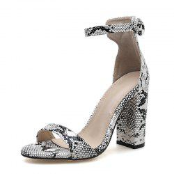 Women's Square Heel Open Toe Shoes Sexy Sandals -