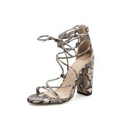 Women's Square Heel Sandals Sexy Party Ankle Strap Heels -