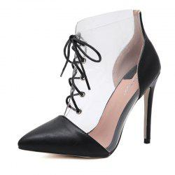 Women's Pointed Toe Stiletto Shoes Fashion Party High Heels with Checkered -