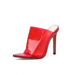 Women's Stiletto Mule High Heels Concise Party Slippers -