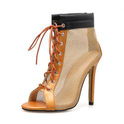 Women's Peep Toe Stiletto High Heels Japanese Sandals with Checkered -