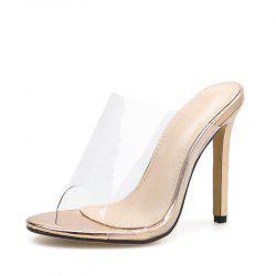 Women's Stiletto Mule High Heels Sexy Party Slippers -