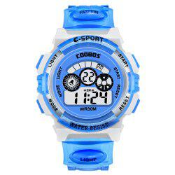 Fashion Colorful Luminous Male and Female Students Adult Multifunctional Watch -