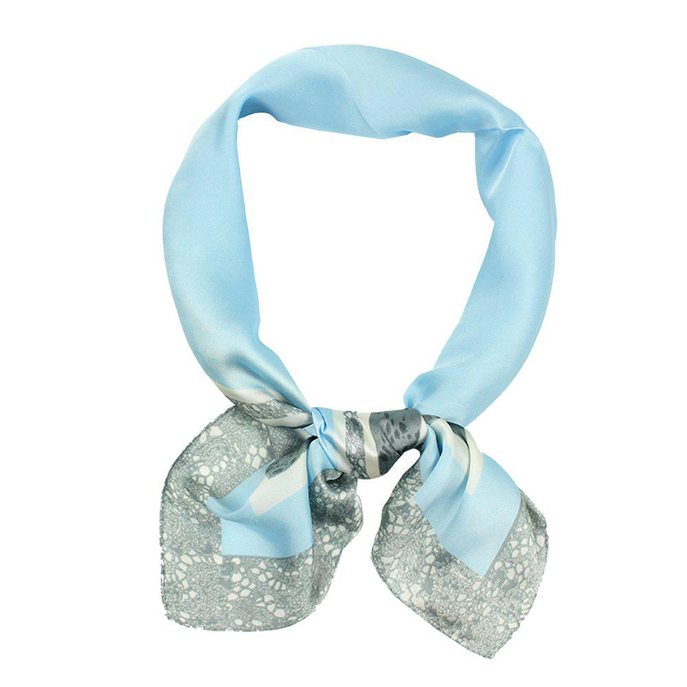 Outfits Ladies Elegant Silk Scarf Simple Printed Hundred Sets of Silk Scarf