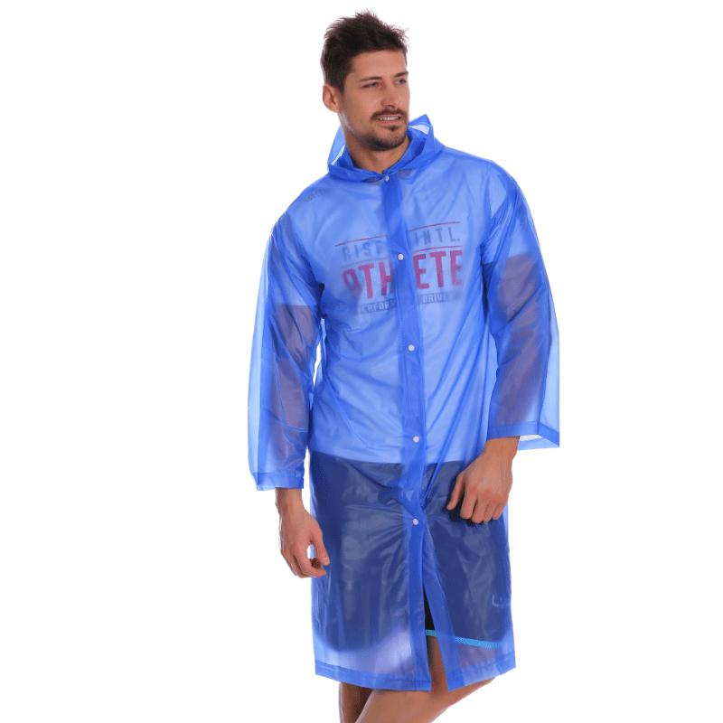 Sale Adult PVC Long Rain Jacket Raincoat with Transparent Hoods for Theme Park