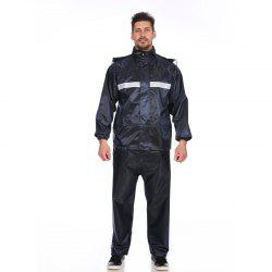 Jacquard Fabric Raincoat Rain Suit Jacket with Pants for Outdoor Activity -