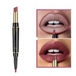 Pudaier Matte Lipstick Wateproof Double Ended Long Lasting Lipstick Lip Makeup -