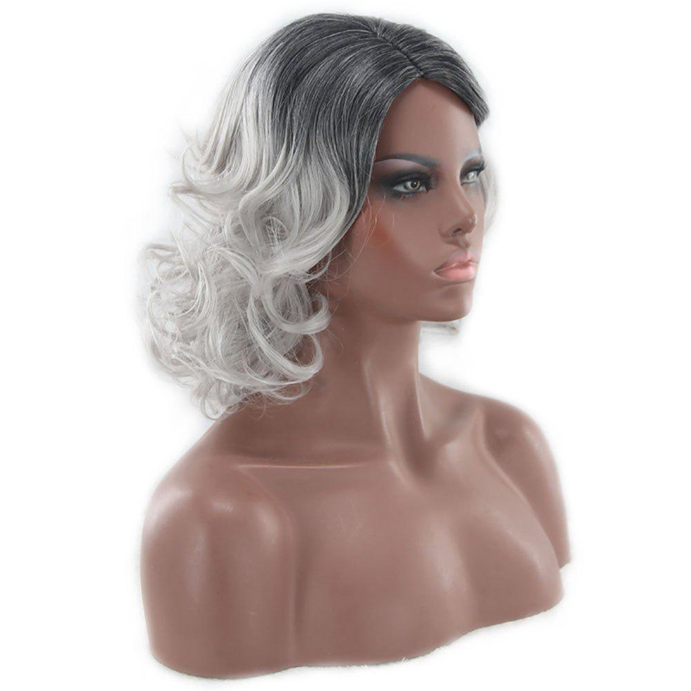 Discount American and European Women Wigs Are Dyed in Shades of Black and Gray