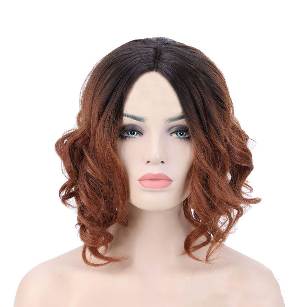 Buy American and European Women Short Hair Dyed with Gradient Wig