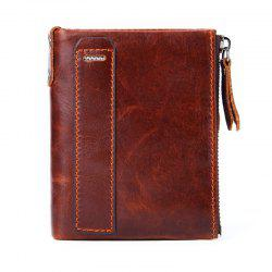 Men'S Wallet genuine Leather Double Pocket -