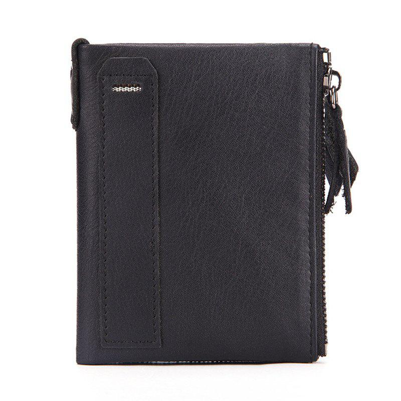 Best Men'S Wallet genuine Leather Double Pocket