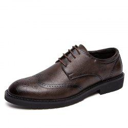 Men's Leather Shoes Nightclub Pointed Brock Plus Size  Fashion Shoes -