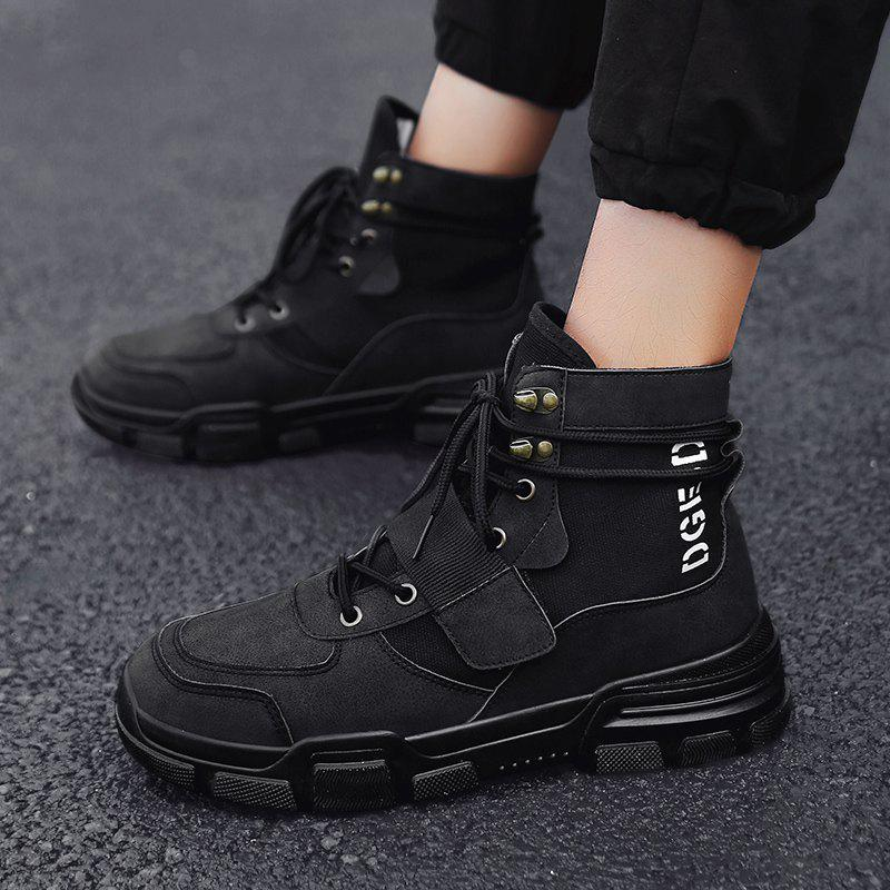 Hot 2018 New Winter  Version of The Trend of Men'S Shoes Wild Sports