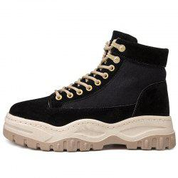 Men Winter Army Desert Boots Military Combat Ankle Boots Lace Up Tactical Male -