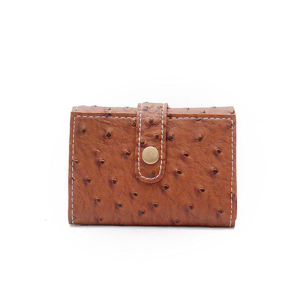 Affordable 2018 New Winter Models Women'S Short Wallet Ostrich Pattern Seventy Percent Off