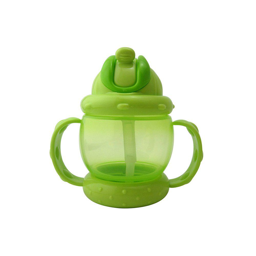 Hot Baby Sippy Cup Solid Color High Quality Straw 240 ML Double Handles Water Bottle
