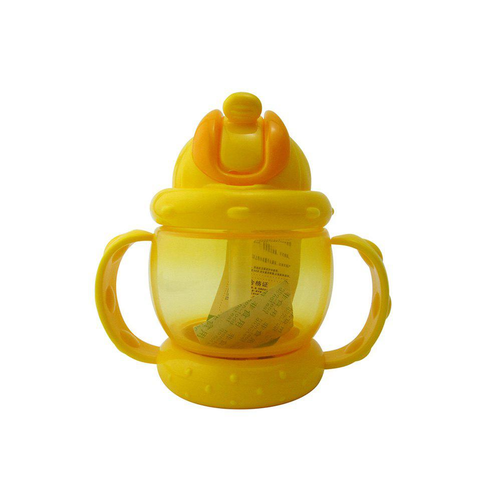 Store Baby Sippy Cup Solid Color High Quality Straw 240 ML Double Handles Water Bottle
