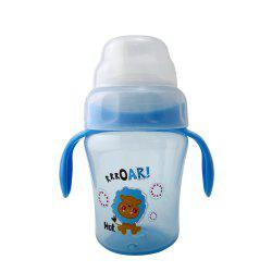 Baby Sippy Cup 240ML Cartoon Animal Double Handle Training Cup Drinking -