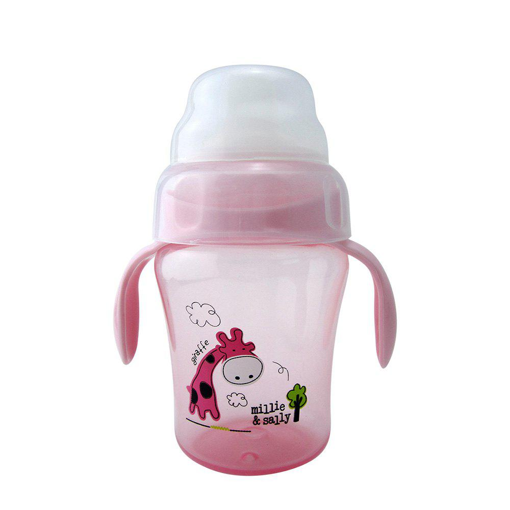 Baby Sippy Cup 240ML Cartoon Animal Double Handle Training Cup Drinking
