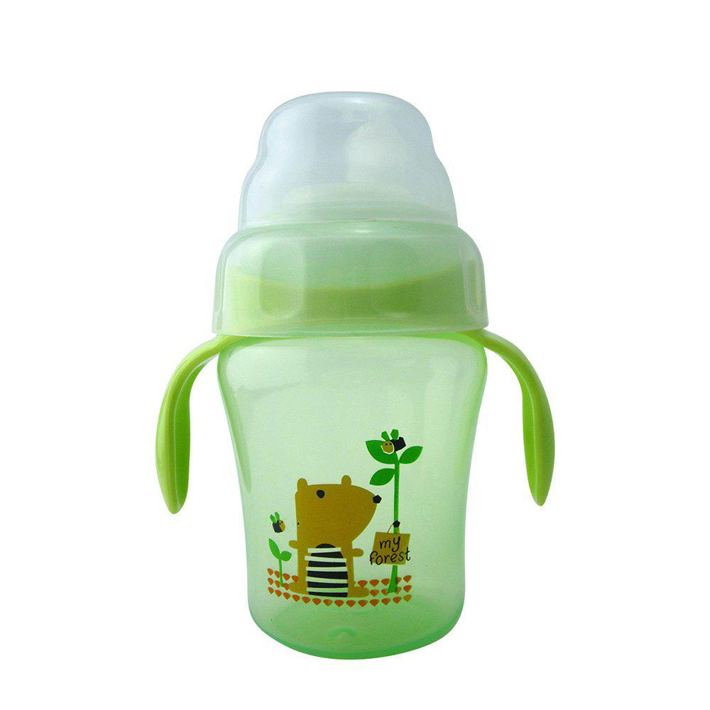 Sale Baby Sippy Cup 240ML Cartoon Animal Double Handle Training Cup Drinking
