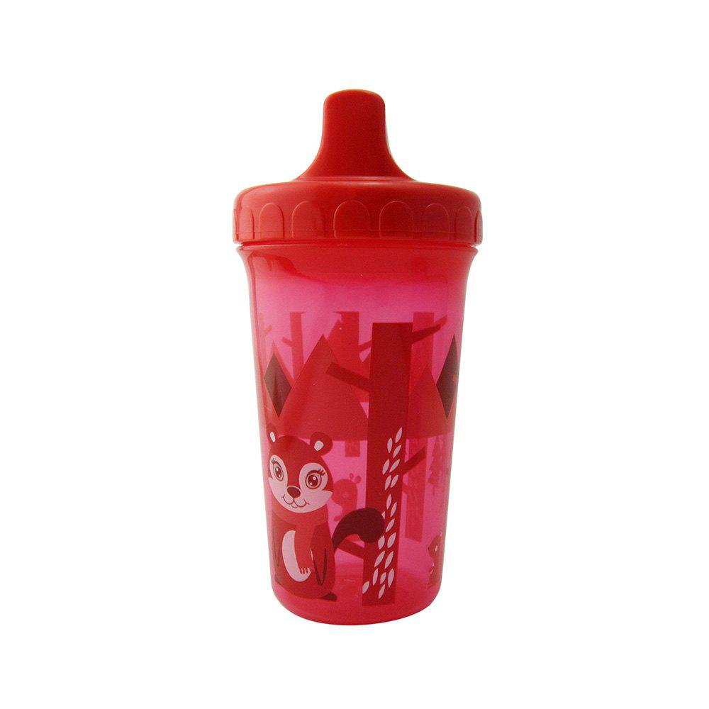 Baby Drinking Cup 300ML Cute Cartoon Animal Pattern Training Красный