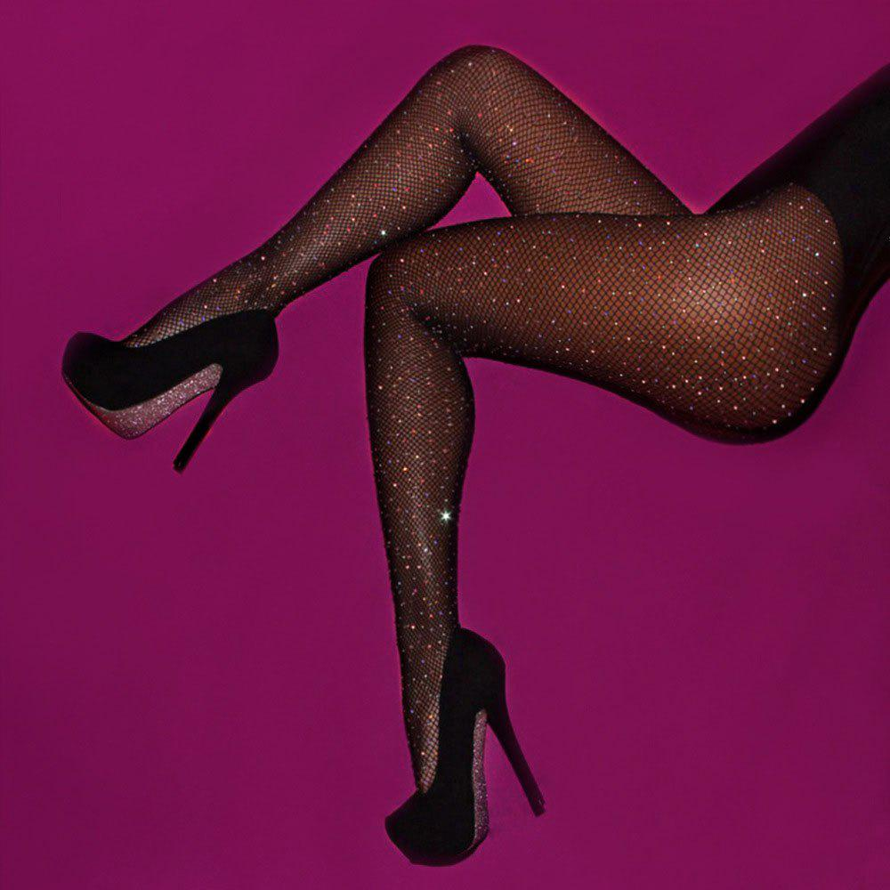 69fa46ce298dd Outfits Women Crystal Rhinestone Elastic Fishnet Stockings Fish Net Tights  Pantyhose