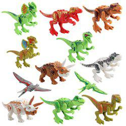 Dinosaur Building Blocks Figures Toys Collections de modèles de dinosaures pour enfant 12 PCS -
