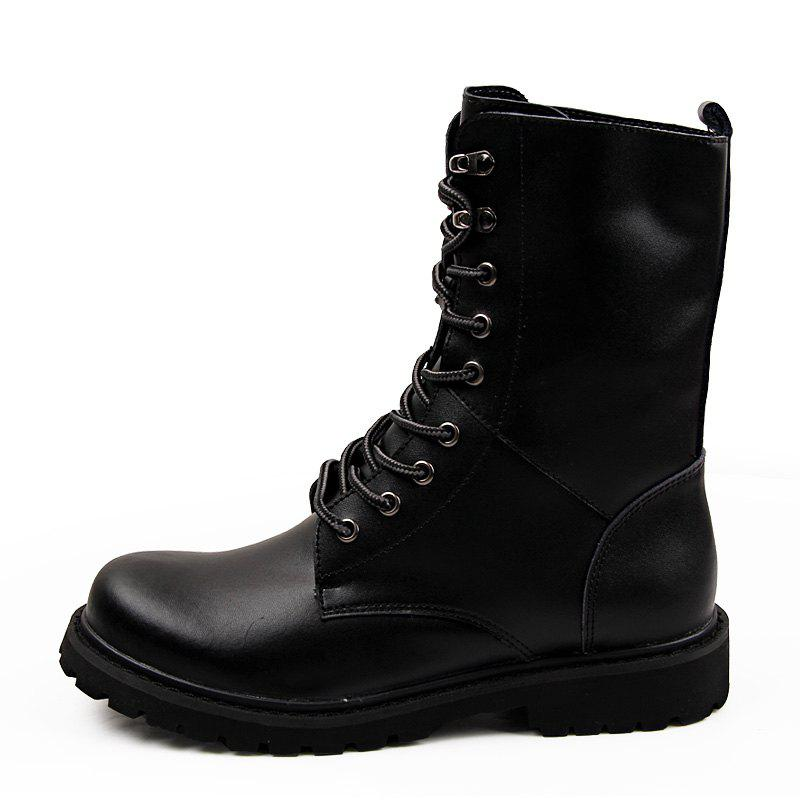 Cheap Leather High-Top Men'S Boots British Fan Shoes Motorcycle Boots