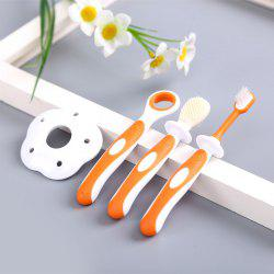 Baby Milk Toothbrush Soft Hairy Tongue Cleaning Brush Molar Tooth Silicone Train -