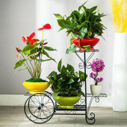Flooor Plant Holder 4 Teir Wrought Iron Flower Shelf Rack Garden Decoration -