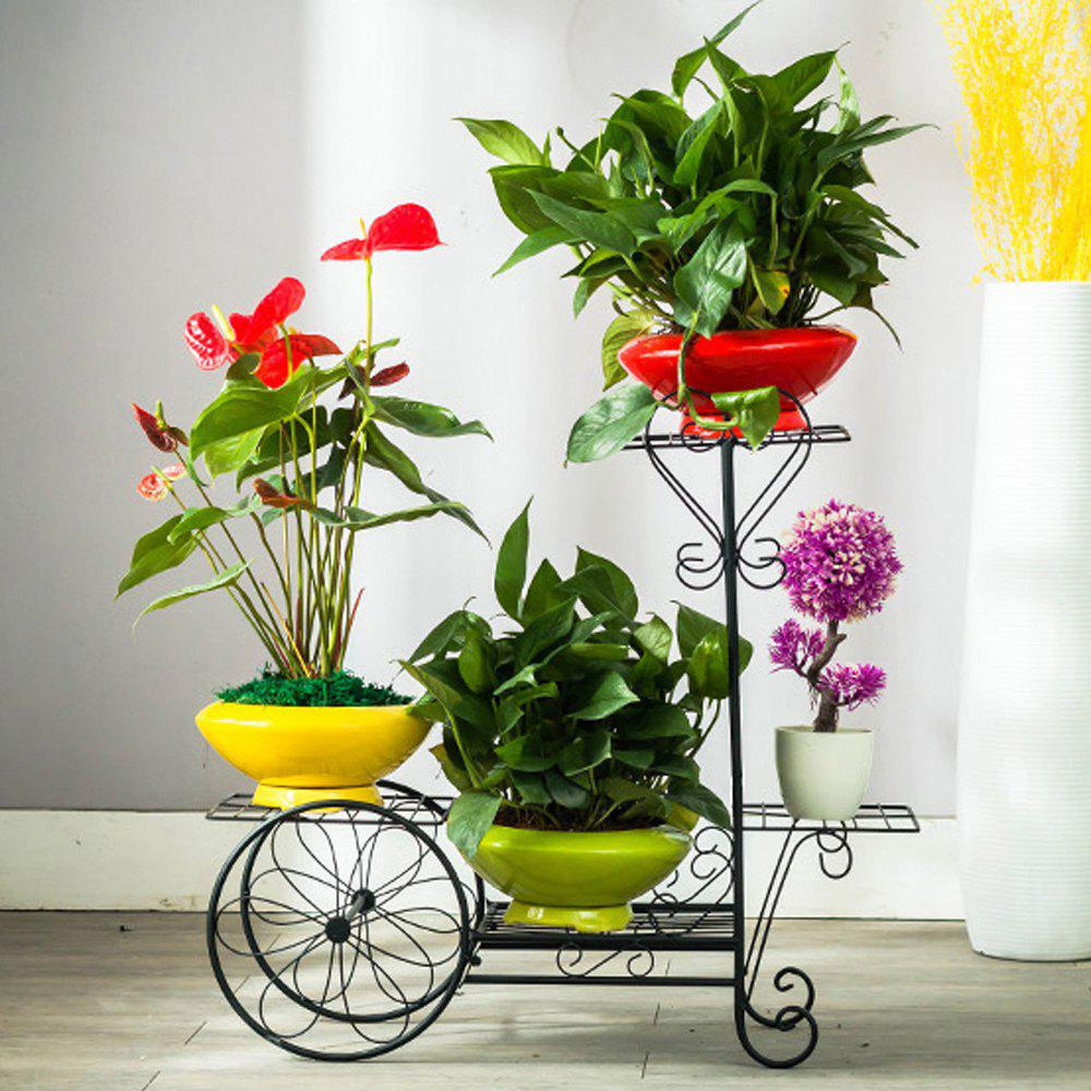 Affordable Flooor Plant Holder 4 Teir Wrought Iron Flower Shelf Rack Garden Decoration