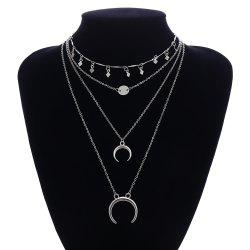 Multi-Layer Moon Sequin Necklace -