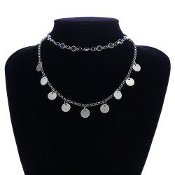 Simple Crystal Sequined Multi-Layer Clavicle Chain -