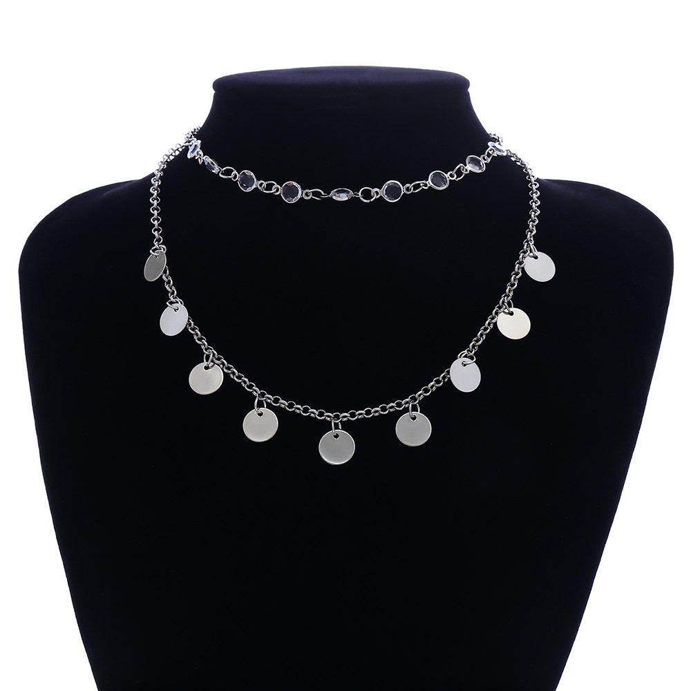 Outfits Simple Crystal Sequined Multi-Layer Clavicle Chain