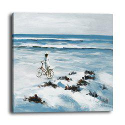 Living Room Seaside Scenery Figure Painting Hotel Background Decoration Mural -