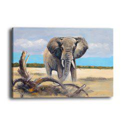 Simulation Oil Painting Animal Elephant Hotel Living Room Porch Background Print -