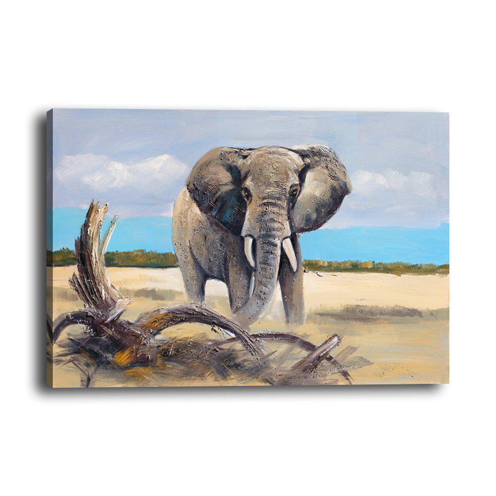 Discount Simulation Oil Painting Animal Elephant Hotel Living Room Porch Background Print