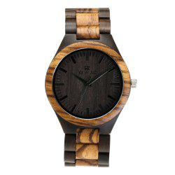 Personality Design Wristwatch Natural Wood Quartz Watch -