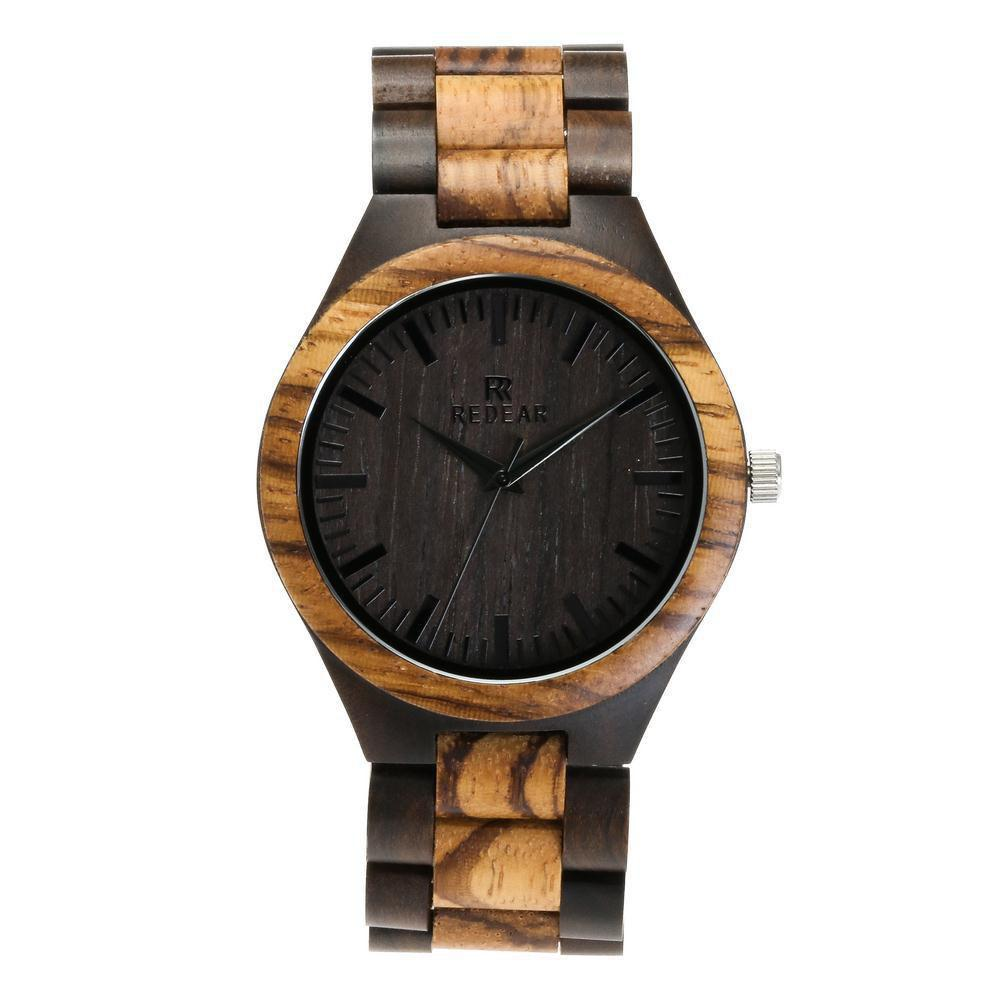 Trendy Personality Design Wristwatch Natural Wood Quartz Watch