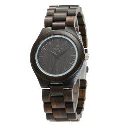 Business Wristwatch Natural Sandal Wood Quartz Couple Watch -