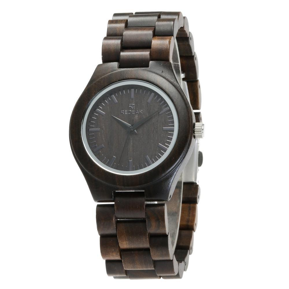 Outfit Business Wristwatch Natural Sandal Wood Quartz Couple Watch