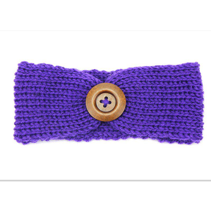 Outfits Handmade Children'S Big Button Knitted Hair Band
