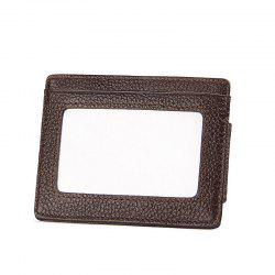Men Money Clip Women Card Holder Male Genuine Leather Small Wallet Coin Purse -