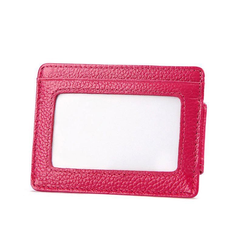 Cheap Men Money Clip Women Card Holder Male Genuine Leather Small Wallet Coin Purse