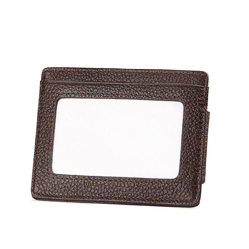 Chic Men Money Clip Women Card Holder Male Genuine Leather Small Wallet Coin Purse