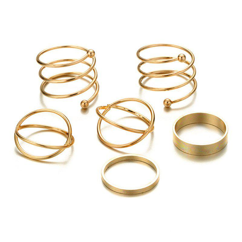 Online Women's Baitao's 6 Sets of Retro Exaggerated Rings
