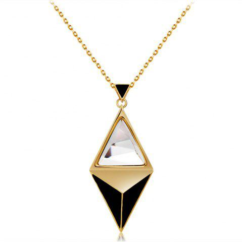 Golden Diamond Crystal Pendant Necklace