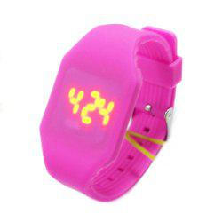 Seasonal New Children'S LED Sports Silicone Watch -