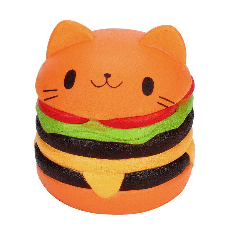 Jumbo Squishy Cat Burger Slow Rebound Toy