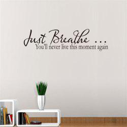 Just Breathe Art Vinyl Mural Home Room Decor Wall Wall наклейки -
